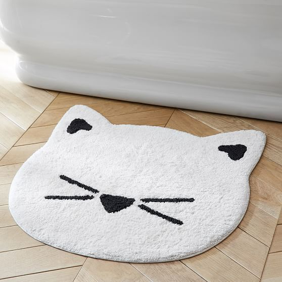 Incroyable Such A Cute Cat Bath Mat