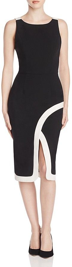 Black Halo Fatima Color Block Sheath Dress