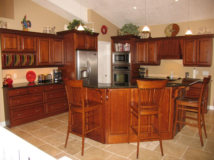 Cabinets Maple Cognac Countertops Granite Ubatuba