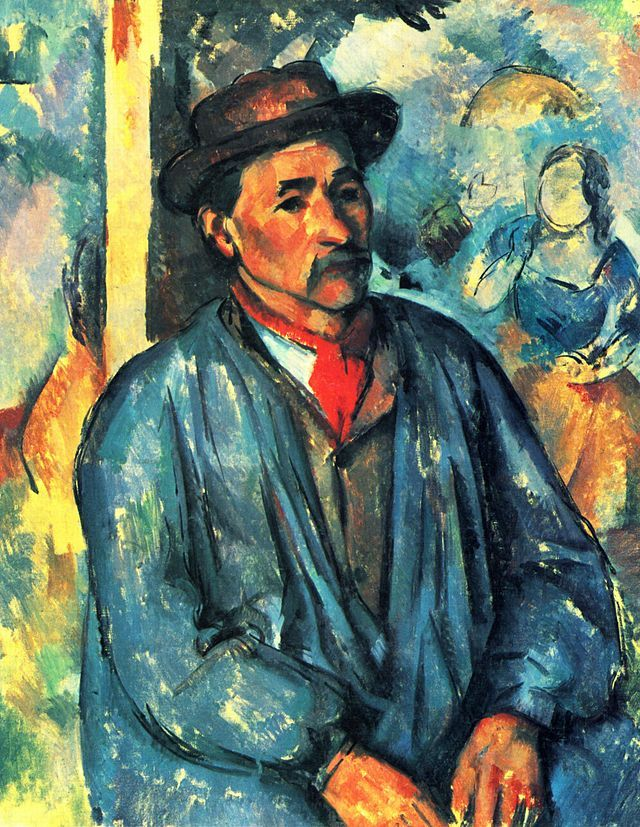 Paul Cézanne - Portrait d'un paysan en tunique bleue
