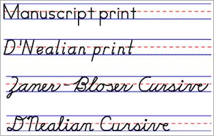 Free Handwriting and Copywork Printables - including Handwriting Without Tears style