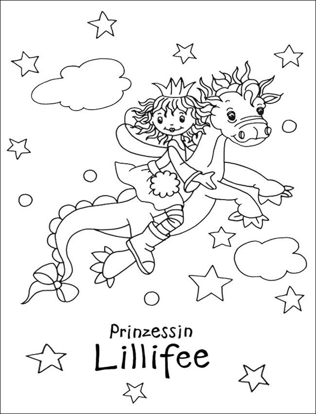 Lillifee 17 zum ausmalen | Fairies | Pinterest | Coloring pages