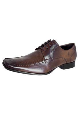 Sapato Social Democrata Texture Marrom