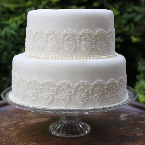 Pansy & Vintage Wolf Vintage Lace & Pearls. Wedding cake topper set in a lovely Soft Ivory. Also available in Wolf Grey (see other listings), Rich Purple (see other listings), Dusky Pink & Pure White (please email us for information on these). These sets perfectly fit the