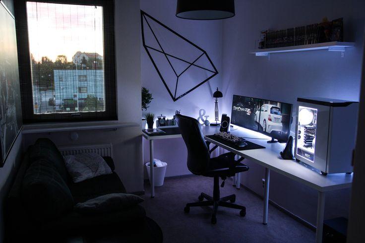 68 besten gaming setup inspo bilder auf pinterest computer gamer zimmer und schreibtische. Black Bedroom Furniture Sets. Home Design Ideas
