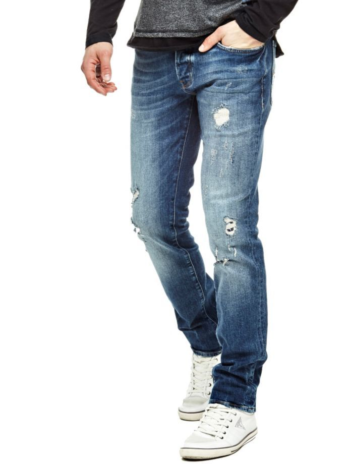 EUR119.90$  Watch now - http://vixrc.justgood.pw/vig/item.php?t=ujxjrxy1361 - TAPERED JEANS WITH ABRASIONS
