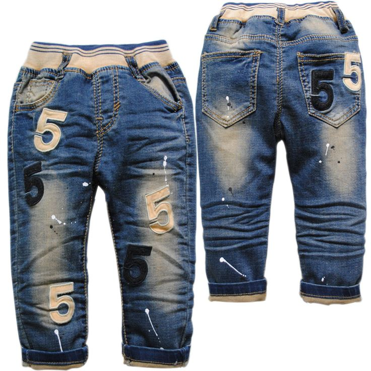 3806 boy jeans baby  jeans  spring autumn casual baby denim pants  kids  trousers  child  navy  blue boy fashion