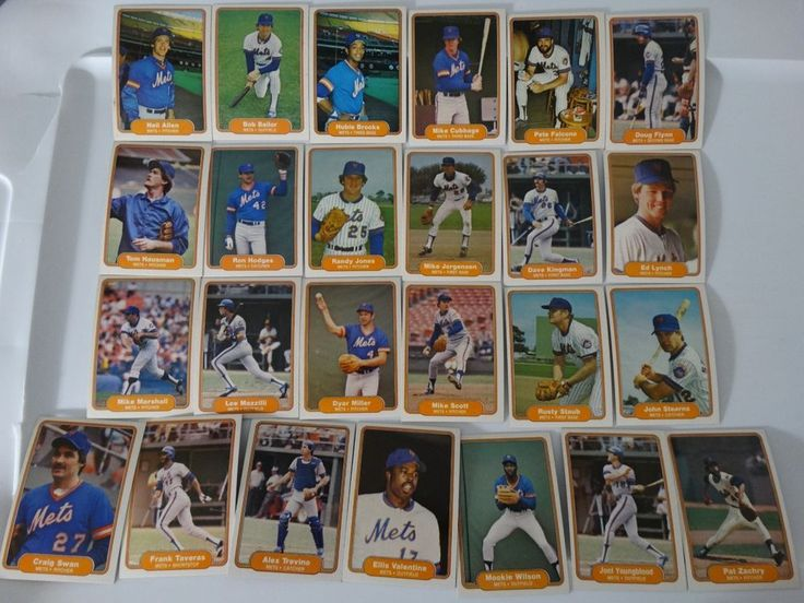 1982 Fleer New York Mets Team Set of 25 Baseball Cards #Fleer #NewYorkMets
