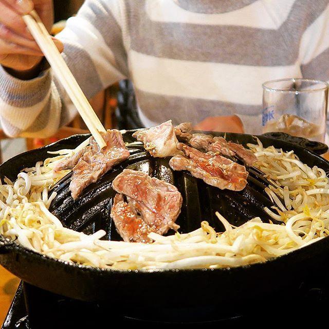 ラムちゃん😘 #ジンギスカン#ラム#ラムちゃん#羊 #肉#焼肉#音や#ビール#近場放浪記 #lamb#grill#food#dinner#gourmet