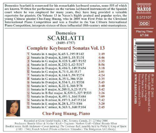 Domenico Scarlatti: Complete Keyboard Sonatas, Vol. 13 [CD]