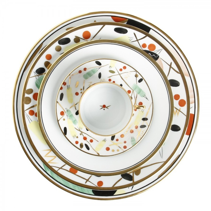 RENOUVEAU RUSSE RUSSIAN REVIVAL DINNERWARE FROM HUZZA  sc 1 st  Pinterest & 8 best russian dinnerware images on Pinterest | Dishes Crystals and ...