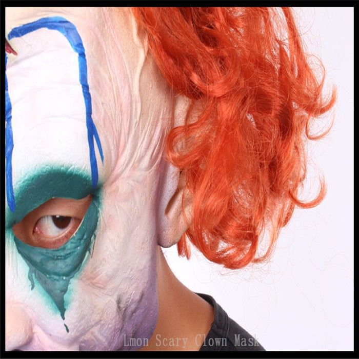 Hot Sale Halloween Clown Mask Red Nose Full Face Masquerade Mascaras Mask Party Scary Crazed Clown Horror Mask with Hair adults  http://playertronics.com/products/hot-sale-halloween-clown-mask-red-nose-full-face-masquerade-mascaras-mask-party-scary-crazed-clown-horror-mask-with-hair-adults/