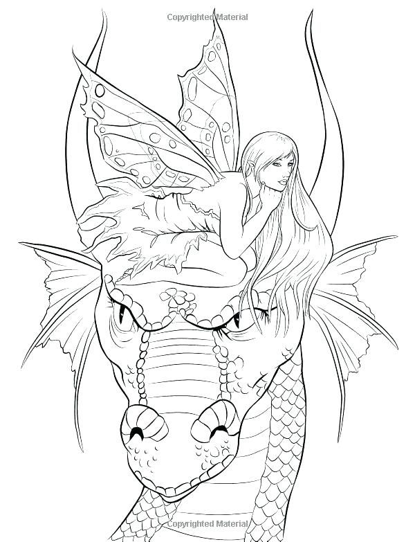 Fantasy Coloring Pages For Adults Mycoloring Fairy Coloring Fairy Coloring Pages Dragon Coloring Page