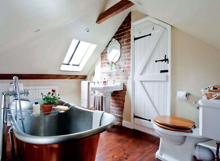 metal bath in a loft conversion to an old home
