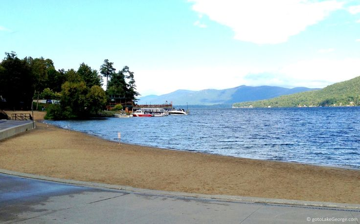 One of the beach of Lake George. It's much busier when it's not raining!