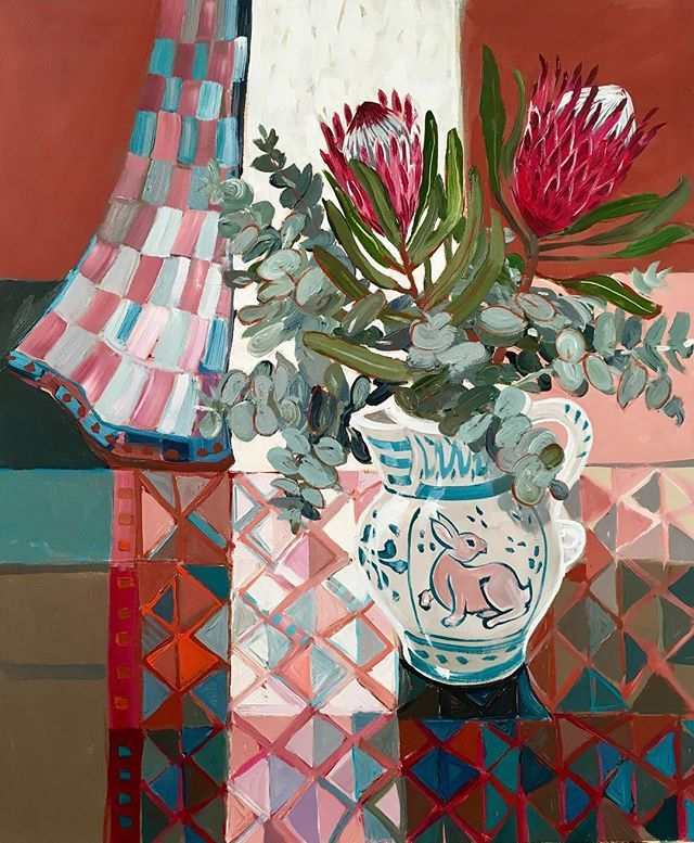 Just finished The Rabbit and the Protea. 91x76cm (36x30). Ready for my up coming exhibition @art2muse gallery #doublebay #sydneyaustralia