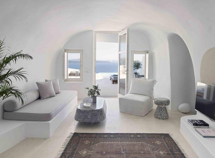 Magnifique maison sur lîle de santorin en grèce par kapsimalis architects