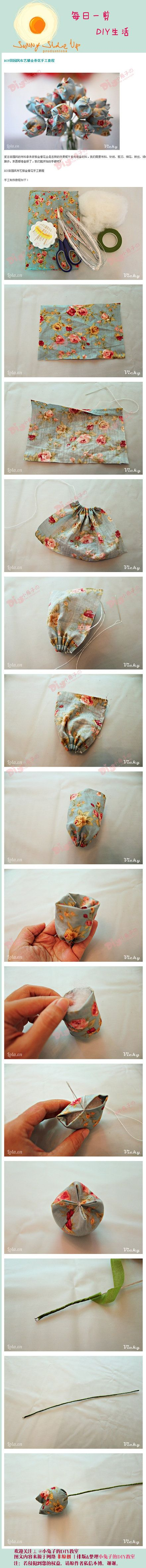 DIY Fabric Tulip Flower
