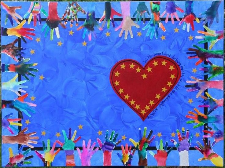 Hearts to hands class art project