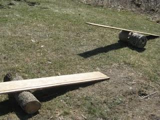 Log balance board