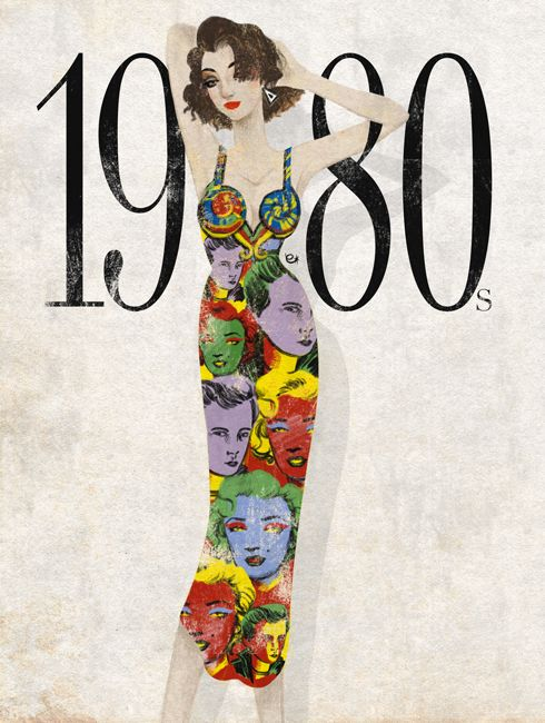 eko bintang, fashion illustration, 1980s