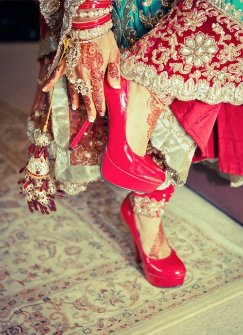 Indian dress and pumps!