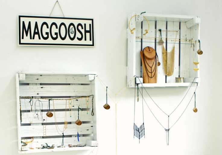 Display at show room studio seven for Maggoosh jewelry