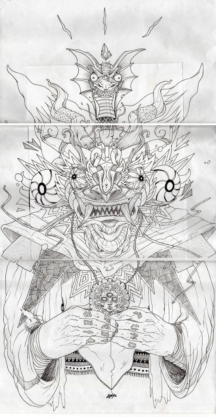 Boceto de Diablada. https://www.behance.net/gallery/16143953/Diablada