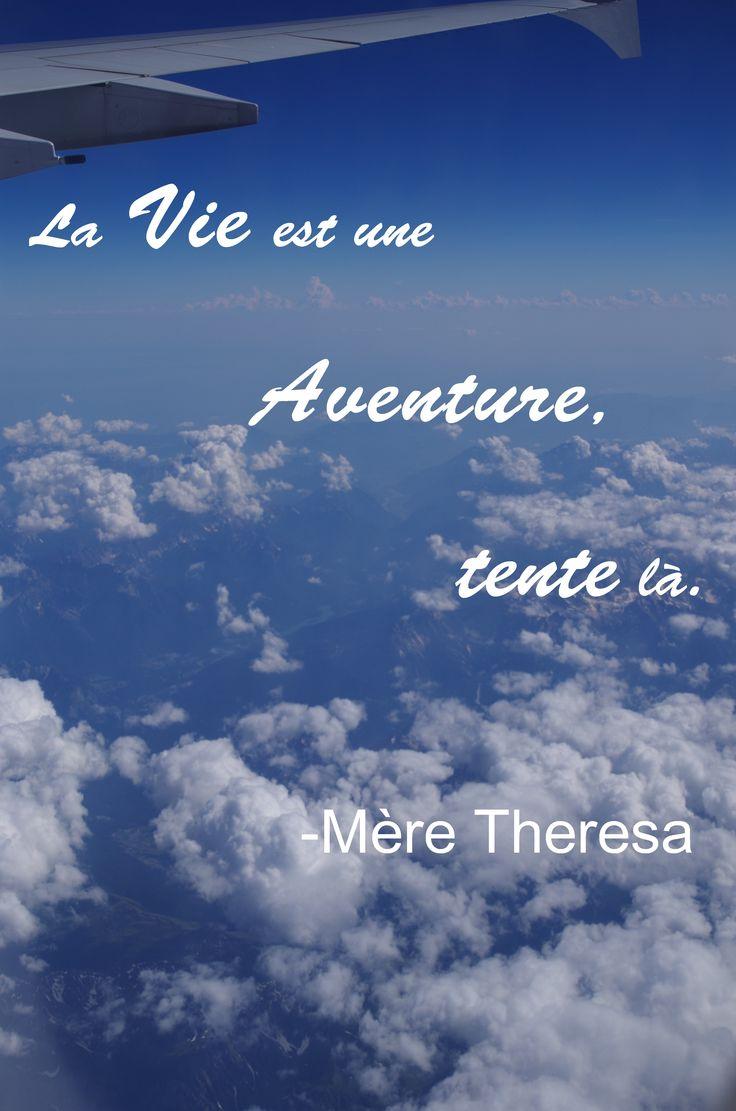 Mère Theresa citation Aventure Vie