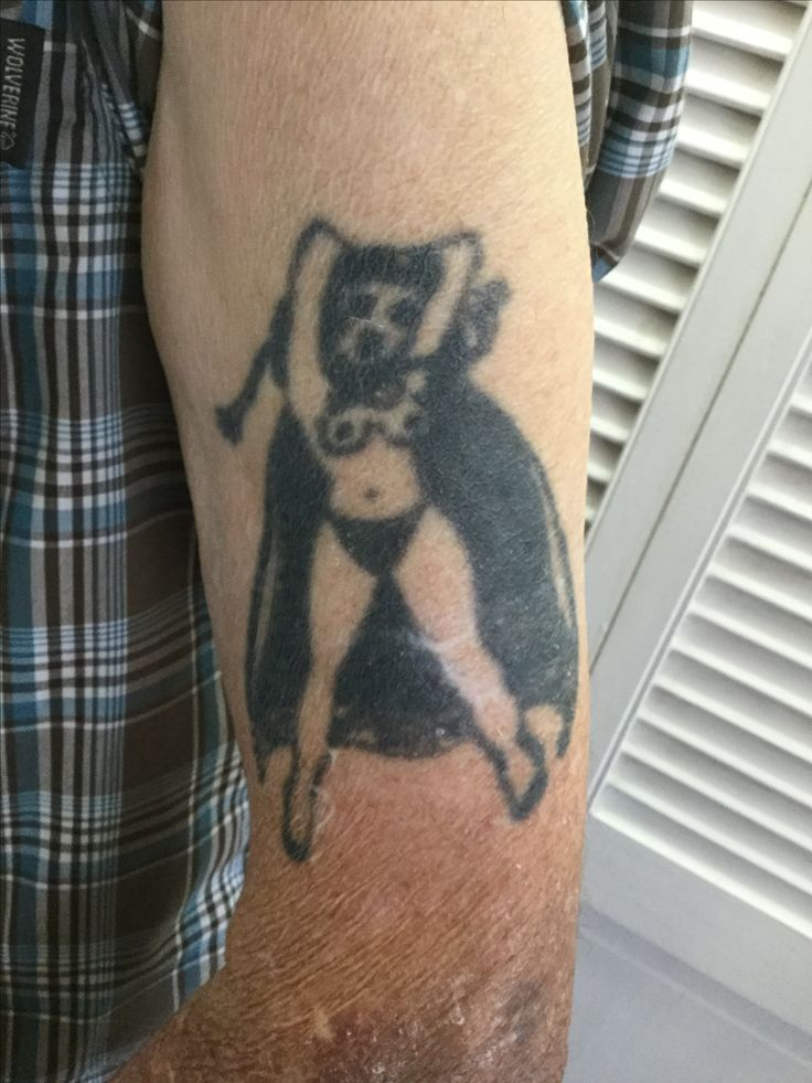 Sailor Jerry tattoo on my Grandpa. Done in 1952.