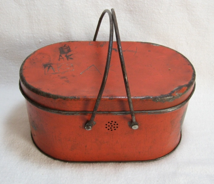 Early Tin Lunch Box I have this without the lid.Did not know it was a lunch box. ****