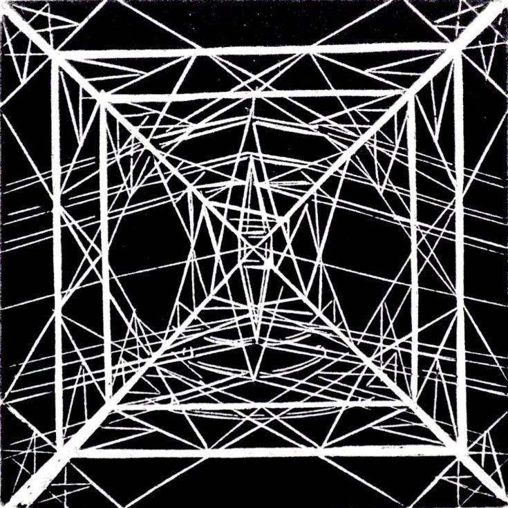 ARTFINDER: Pylon VC9 by Rebecca Coleman - Wood engraving. Electricity transmission tower at Walthamstow reservoirs.
