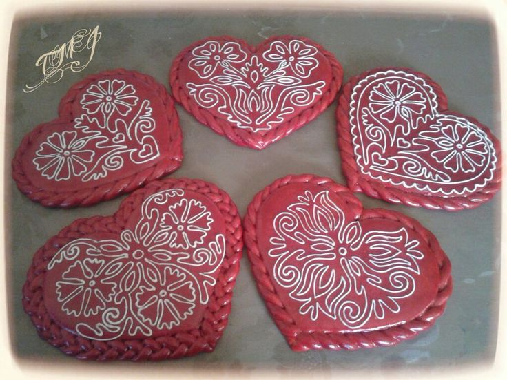 Hungarian folkart hearts  by  TMJcreative.