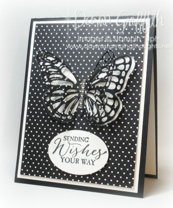 Butterfly Thinlits card video (Dawns stamping thoughts Stampin'Up! Demonstrator Stamping Videos Stamp Workshop Classes Scissor Charms Paper Crafts)