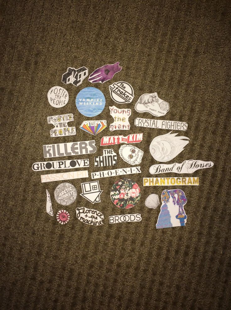 Indie bands sticker pack by catchingyourdreamz on etsy https www etsy