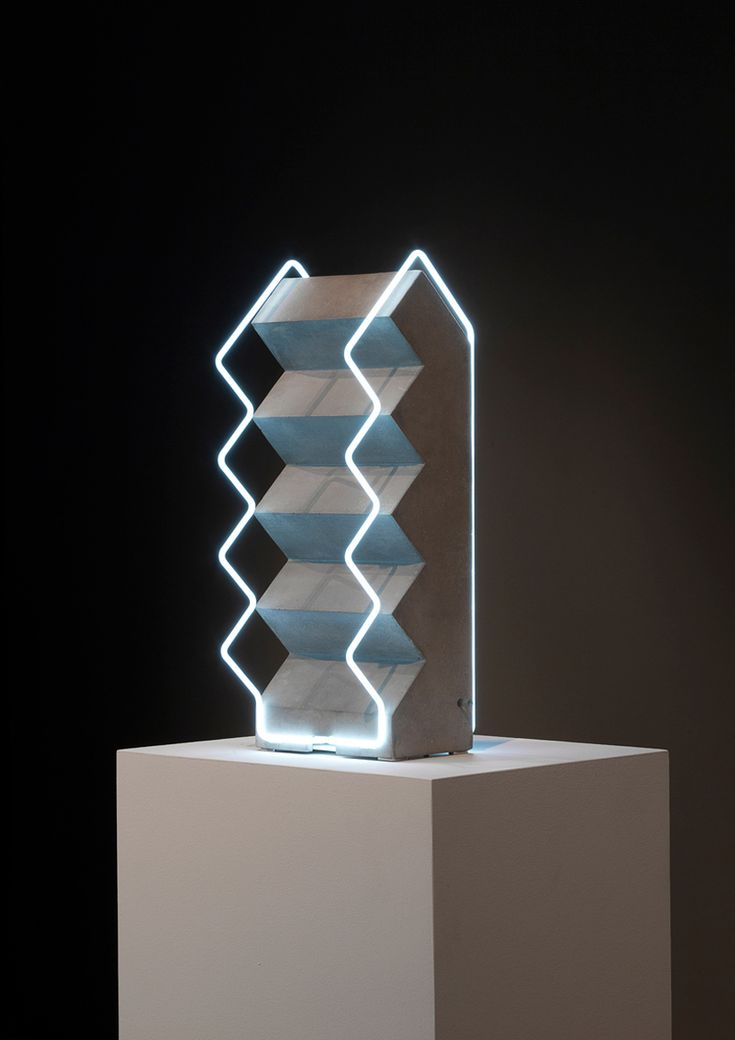 Morgane Tschiember's Fluorescent Lighting Tube Sculptures | http://www.yellowtrace.com.au/morgane-tschiember-fluorescent-lighting-sculptures/