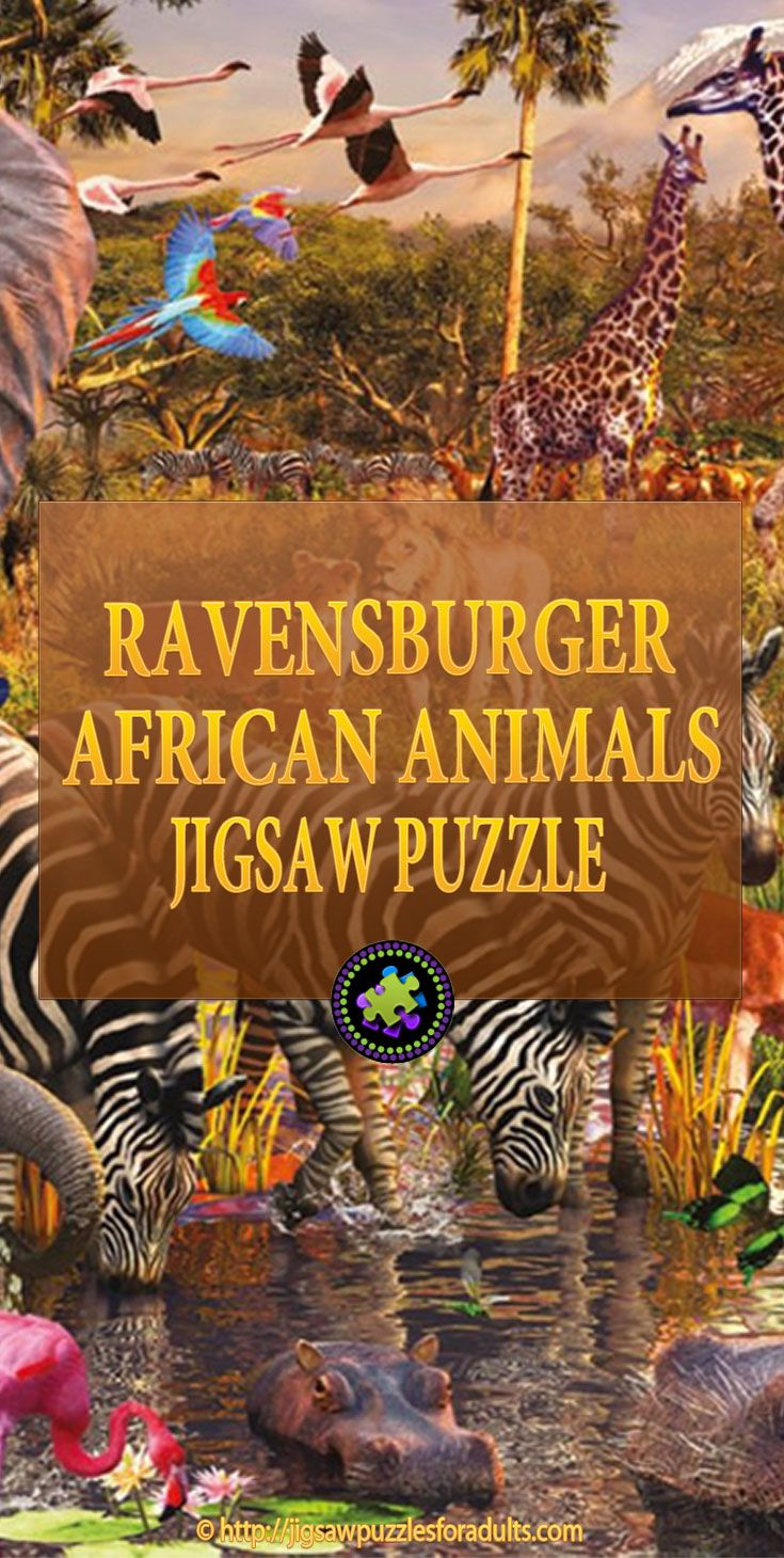 Love this Ravensburger African Animals jigsaw puzzle for adults! This is an excellent quality 3000 piece puzzle from Ravensburger Jigsaw Puzzles. This African Animals safari jigsaw puzzle with elephants, giraffes, and lions is perfect activity for the whole family. It will offer you a challenge as well as being educational.
