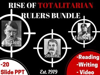 rise of totalitarian dictators stalin mussolini and hitler Outcome stalin did help modernize and industrialize soviet industry, but his reign came at a high price he initially signed a non-aggression pact with hitler.