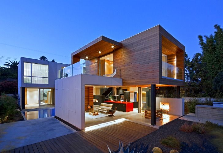 """mnm.MOD builds super energy-efficient, modular homes - and their Superb-A House in Venice Beach, California is a stellar example of their prefab building system. The Santa Monica-based prefab designer has developed a patented """"thermo broken"""" insulated wall and flooring system that allows them to create a high-performance envelope. The system allows them to reduce costs, be flexible in terms of design, and quickly assemble projects while maintaining a high level of sustainability. Read more…"""