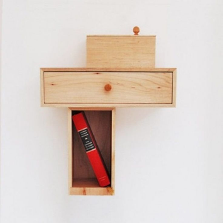 Useful Little Nightstand Of Maple Wood   Devparade