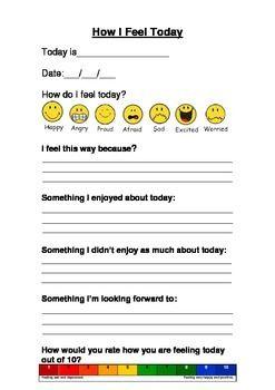 Behavior Suppor: Daily Feeling Good and Healthy Journalt ...