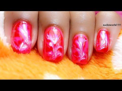 TOOTHPICK NAIL ART _3 || Dry Marble nail art for short nail