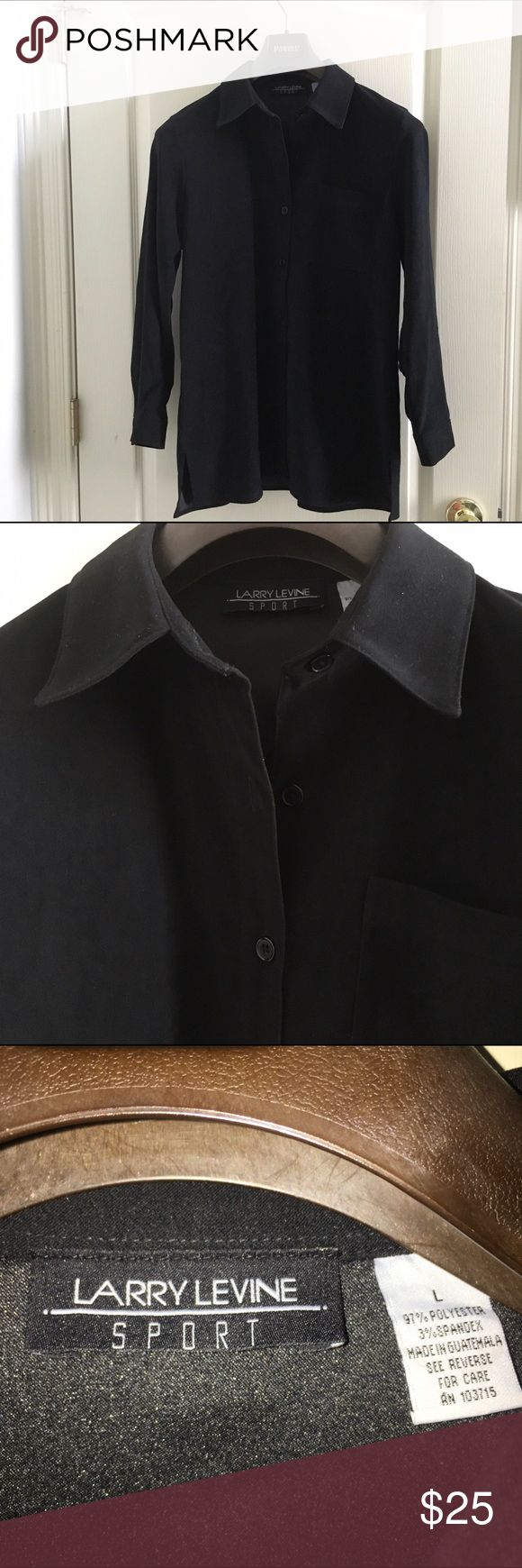 Black Suede Shirt / Jacket Black Suede Shirt / Jacket 97% Polyester.                       ✔️Offers Welcome✔️.                                                     🚭Smoke Free Home🚭.                                                         🏡Pet Free Home🏡.                                                   🚫No Trading🚫 Larry Levine Jackets & Coats