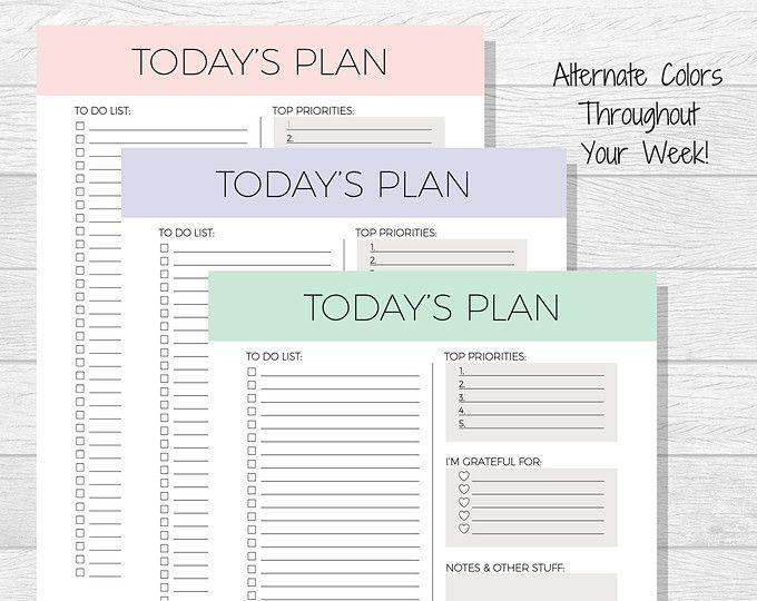 Более 25 лучших идей на тему «Daily organizer planner» на - printable day planner