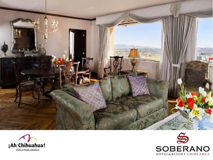 https://flic.kr/p/sHekoe | TURISMO EN CHIHUAHUA TE RECOMIENDA LA SUITE PRESIDENCIAL DEL HOTEL SOBERANO CHIHUAHUA 6 | En nuestro Hotel Soberano Chihuahua, contamos con una fabulosa Suite Presidencial ubicada en el piso más alto con espectaculares vistas a la Ciudad de Chihuahua. Lujosamente decorada y equipada con todos los servicios como: sala de estar, comedor y cocina independiente de la habitación, cama King extra grande, baño para visitas y un amplio baño principal, dos TV's LED de 40…