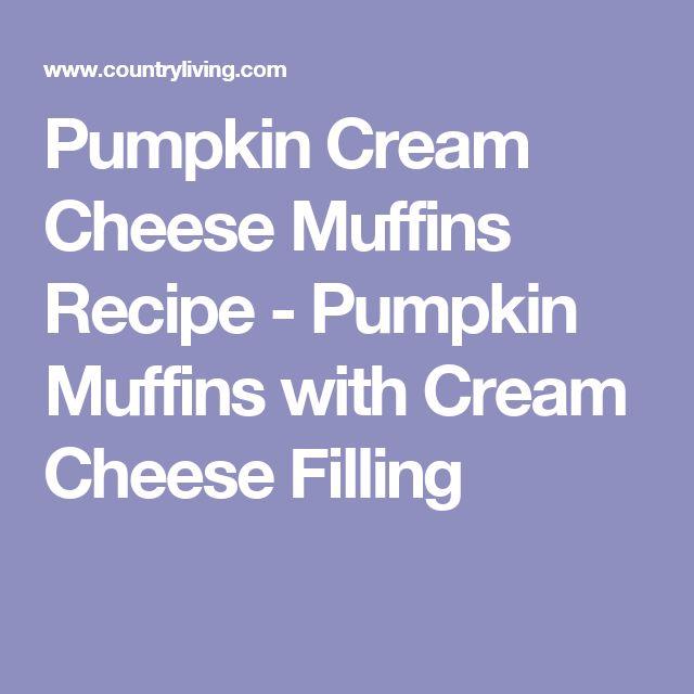 Pumpkin Cream Cheese Muffins Recipe - Pumpkin Muffins with Cream Cheese Filling