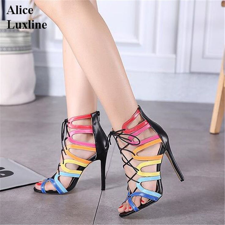 New documentary in fashionable sexy lady shoes color matching point the stiletto heel shoes sandals Free shipping free shipping enjoy lT0KJ