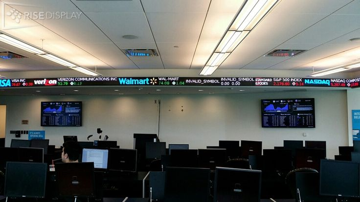 Finance Lab at Ramapo College's LED stock ticker