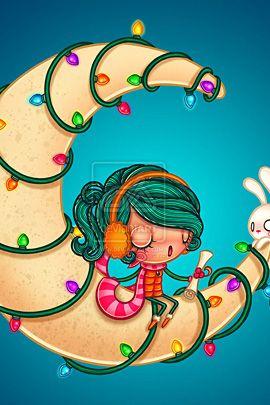 Rockin' Around the Christmas Moon - By Anita Mejia