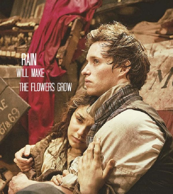 Beautiful quote from the new award winning movie Les Miserables.  Marius was annoyingly oblivious at this part.